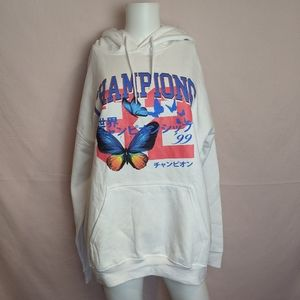Boohoo Oversized Butterfly Champions Hoodie